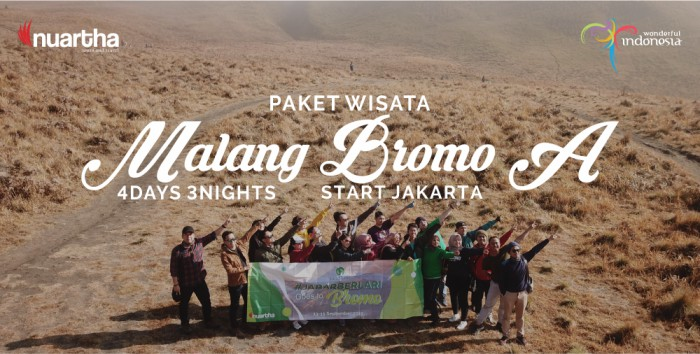 Malang Bromo dari Jakarta 4D3N A - Nuartha Tours and Travel - PT Moda Kreasindo goes to Dieng (13-15 September 2019) - Nuartha Tours and Travel