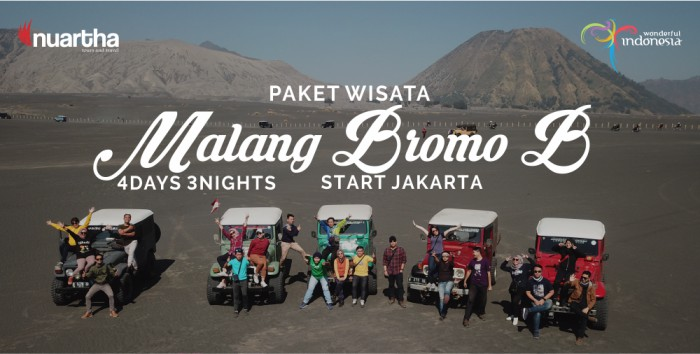 Malang Bromo dari Jakarta 4D3N B - Nuartha Tours and Travel - PT Moda Kreasindo goes to Dieng (13-15 September 2019) - Nuartha Tours and Travel