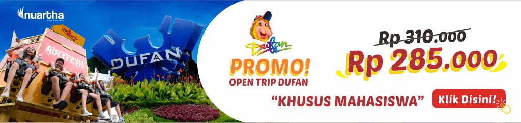 PROMO OPEN TRIP DUFAN - NUARTHA TOURS AND TRAVEL